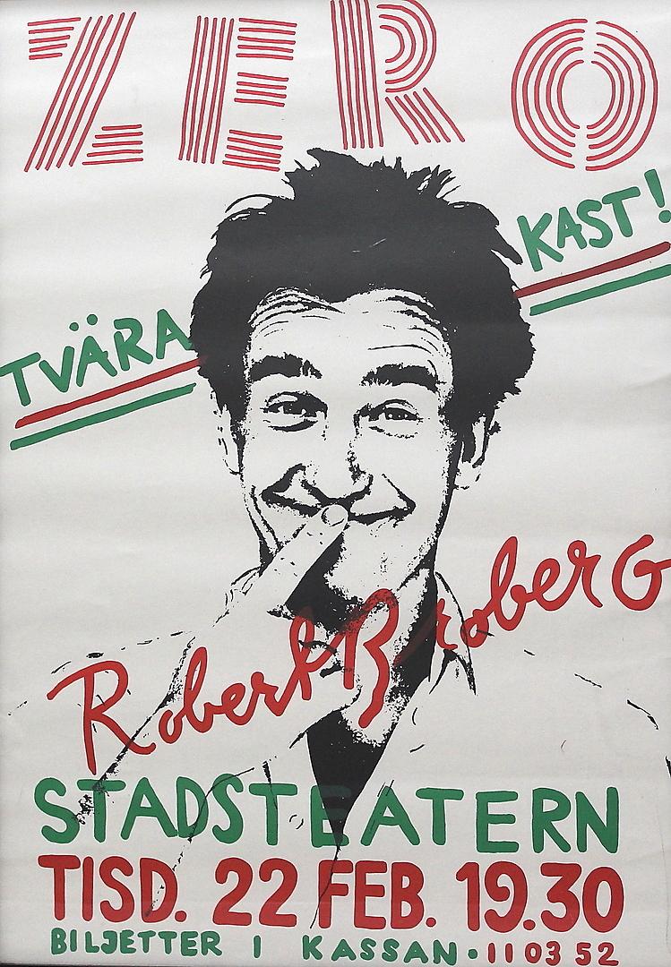 Images For 188562 Affisch Stadsteatern Tvär Kast Zero
