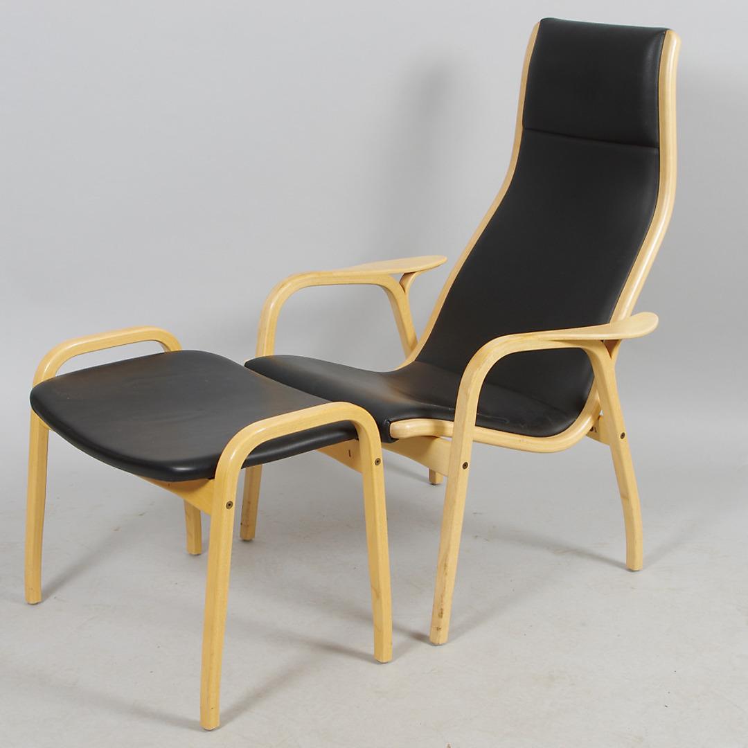 """Bilder för 220567 FåTÖLJ MED FOTPALL,""""Lamino"""", Yngve Ekström, Swedese Auctionet"""