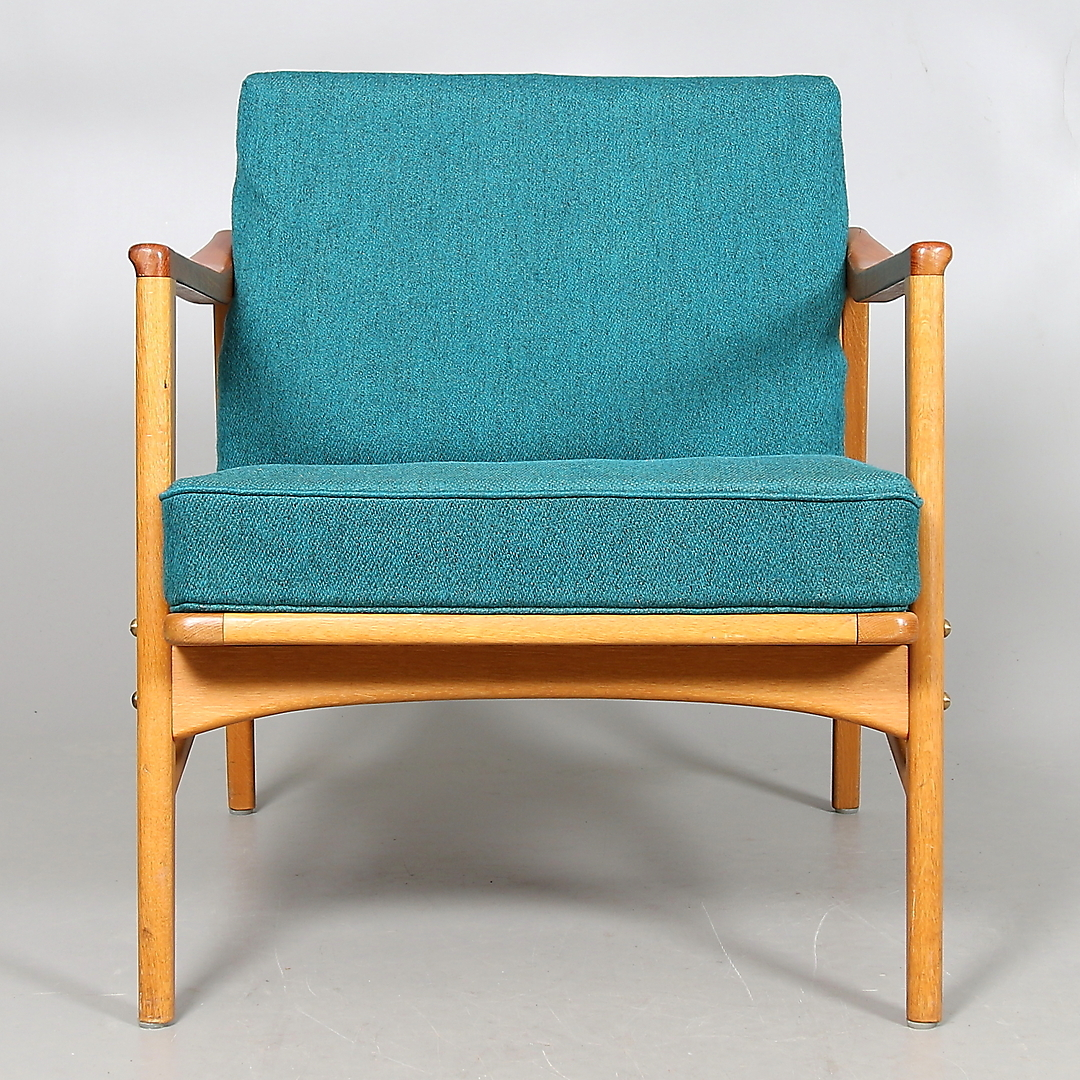 Bilder för 222103 FåTÖLJ, teak och ek, OPE möbler 1960 tal Aucti