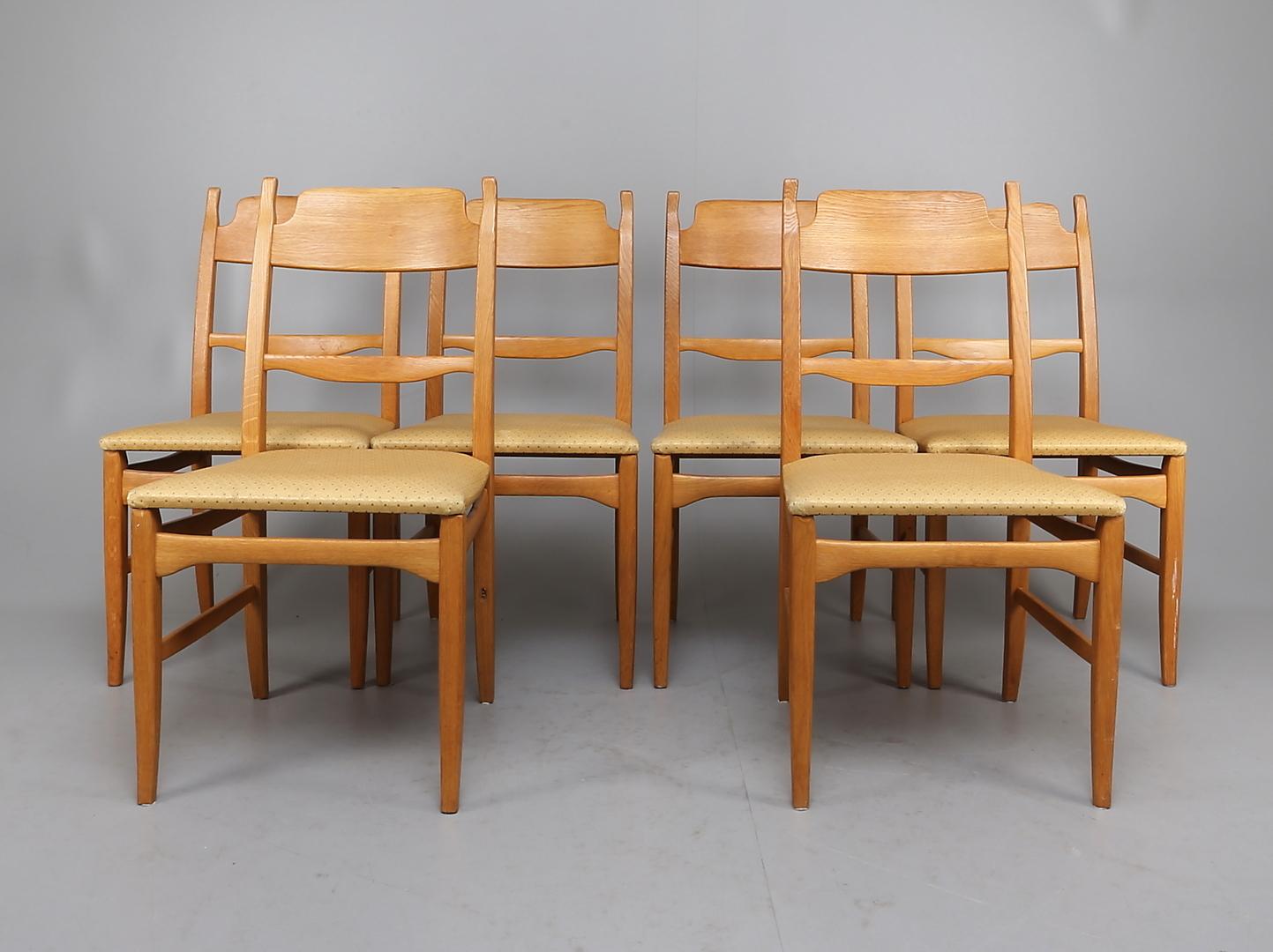 """Bilder för 308199 CARL MALMSTEN Stolar, 6 st,""""Calmare nyckel"""",åfors Möbelfabrik Auctionet"""