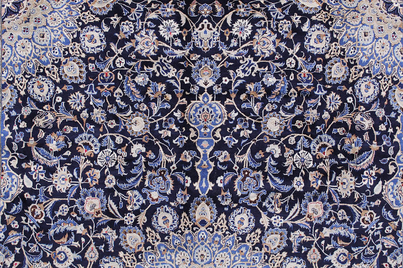 blå persisk matta