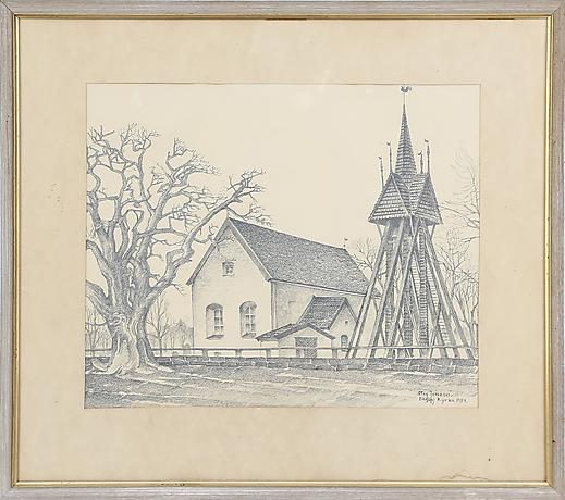 Drawings at Kalmar Auktionsverk - Auctionet