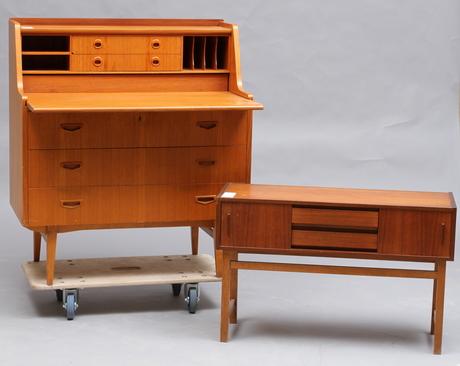 sekret r samt sideboard teak 1960 70 tal m bler. Black Bedroom Furniture Sets. Home Design Ideas