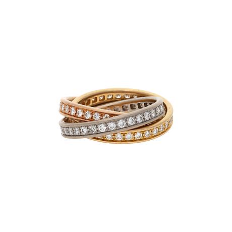 Fra mega GEORG JENSEN. Ring, 18 K vitguld, diamant uppskattad storlek 0,30 CU-15
