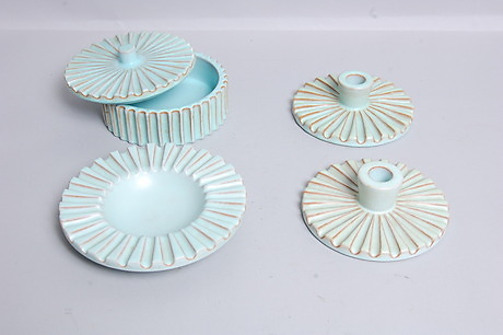 schollert keramik KERAMIK, 4 delar, signerad Schollert, Danmark, 1930 40 tal  schollert keramik