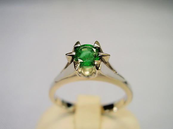 Smaragd  Ring   Smaragde   585er  Gold  # 55