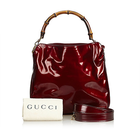 4a1df0660 VÄSKA, Bamboo Patent Leather Handbag, Gucci. Vintage clothing & Accessories  - Auctionet