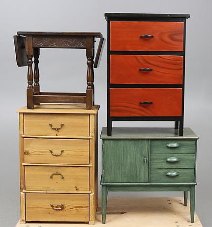 m belparti 4 delar 1900 tal m bel kommoden auctionet. Black Bedroom Furniture Sets. Home Design Ideas