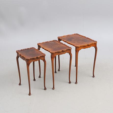 SATSBORD, tre delar, 1900 tal. Möbler Bord Auctionet