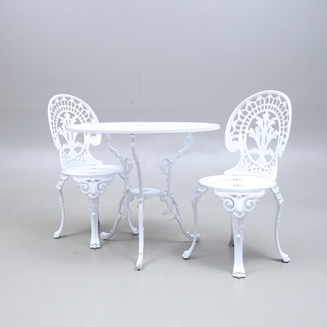 TRÄDGÅRDSGRUPP, Bord, 4 stolar, JUTLANDIA. Furniture