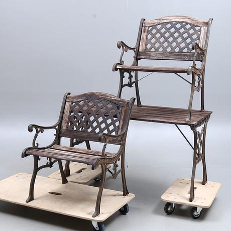 TRÄDGÅRDSGRUPP, Bord, 4 stolar, JUTLANDIA. Möbler