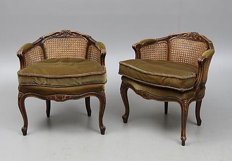 f t ljer ett par chippendale stil 1900 talets f rsta h lft m bel sessel st hle auctionet. Black Bedroom Furniture Sets. Home Design Ideas