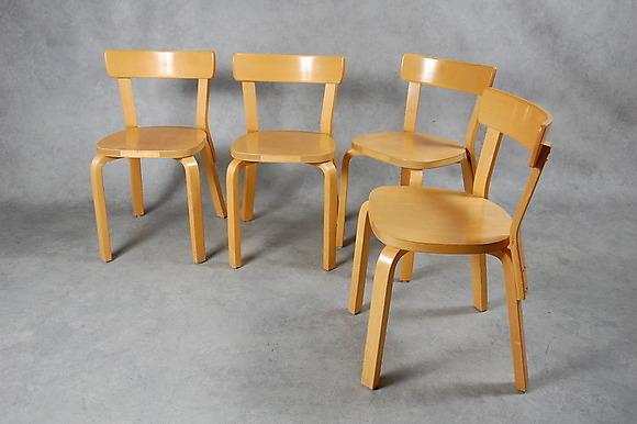 Strålende ALVAR AALTO. stolar, 4 st, modell