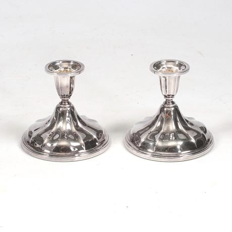 LJUSSTAKAR ett par, silver, Thorvald Marth…