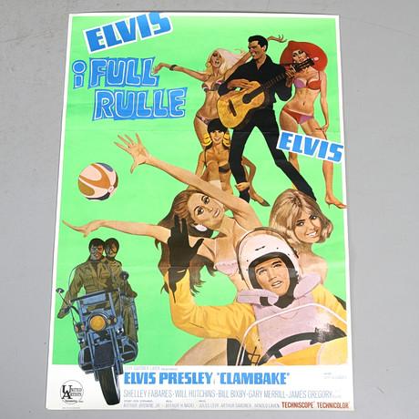 "FILMAFFISCH, Elvis Presley, ""Clambake"", Bo…"