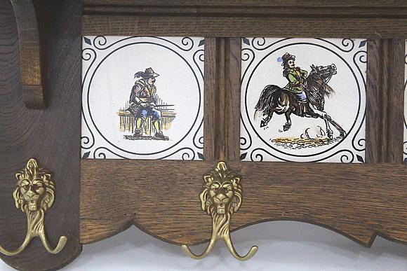 HATTHYLLA, ek, med dekorerade kakelplattor, Wulfers, Heerhugowaard, Holland Furniture Other