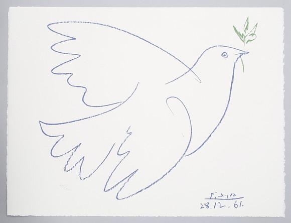 PABLO PICASSO 18811973 Blaue Friedenstaube Art  Graphic