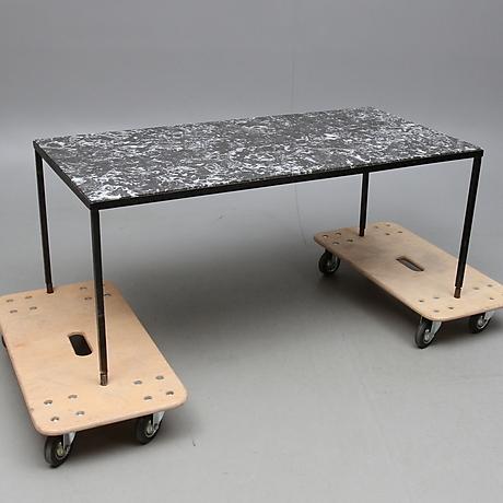 Soffbord soffbord metall : SOFFBORD, sten och metall, 1900-tal. Furniture - Tables – Auctionet