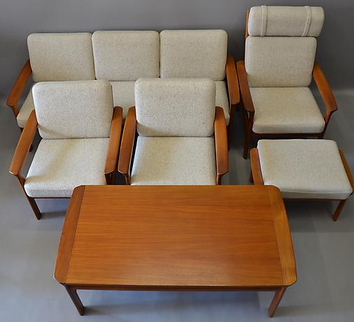 sitzgruppe komfort m bel d nemark m bler soffor sittgrupper auctionet. Black Bedroom Furniture Sets. Home Design Ideas