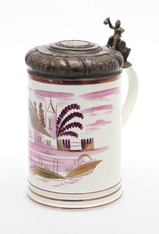 STOP, keramik med silverlock  Trol England 1800-tal  Ceramics