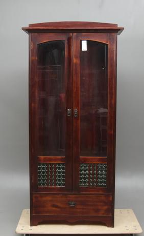 BOKSKÅP, med glasdörrar, Jugend, 1900-tal.
