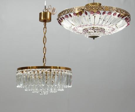LJUSKRONOR, 2 st, plafondmodell, 192000-tal.