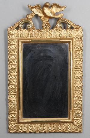 SPEGEL, guldförgylld, 1800 tal.