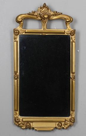 SPEGLAR, 2 st, bland annat gustaviansk stil, 1900 tal.
