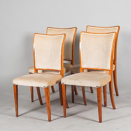 stolar 4 stycken 1900 talets mitt m bel sessel st hle auctionet. Black Bedroom Furniture Sets. Home Design Ideas