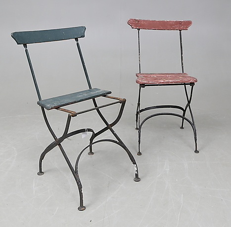 BRYGGERISTOLAR, ett par, omkring 1900. Möbler