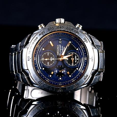 Armbandsur Herr Seiko Chronograph Titanium 100m Kal7t62 Clocks