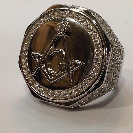 OCTAGONAL FREEMASON RING  Jewellery & Gemstones - Rings