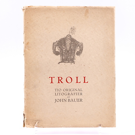 John Bauer Books Troll With Nine Lithographs Ernst Bauer Publisher Art Graphic Auctionet