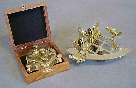 sextant i mässing