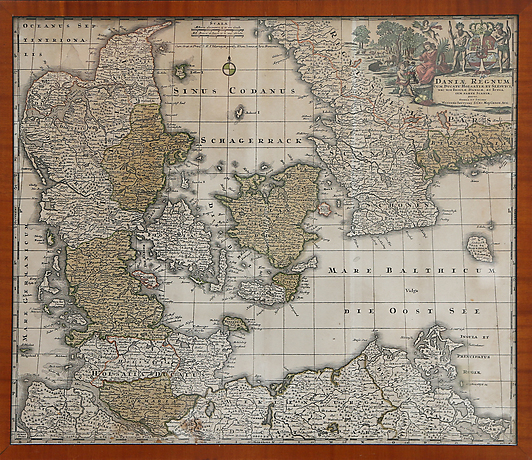 Karta Skane Och Danmark.Karta Danmark Och Skane Books Maps Manuscripts Auctionet
