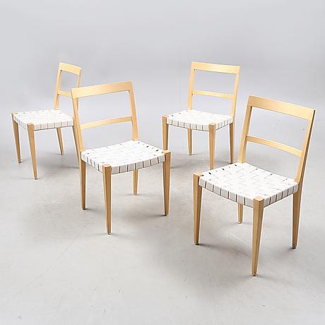 BRUNO MATHSSON. Stolar, 4 stycken, Mimat. Möbler