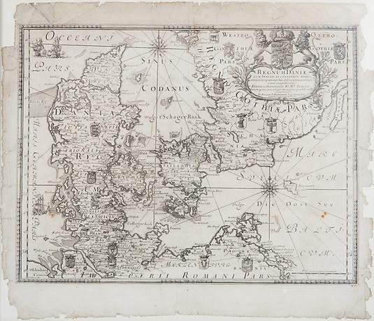 Karta Skane Och Danmark.Danmark I Grafik I Sverige Auctionet