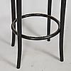 BARSTOLAR, 3 stycken, svartlackerat trä, Gemla. Möbler