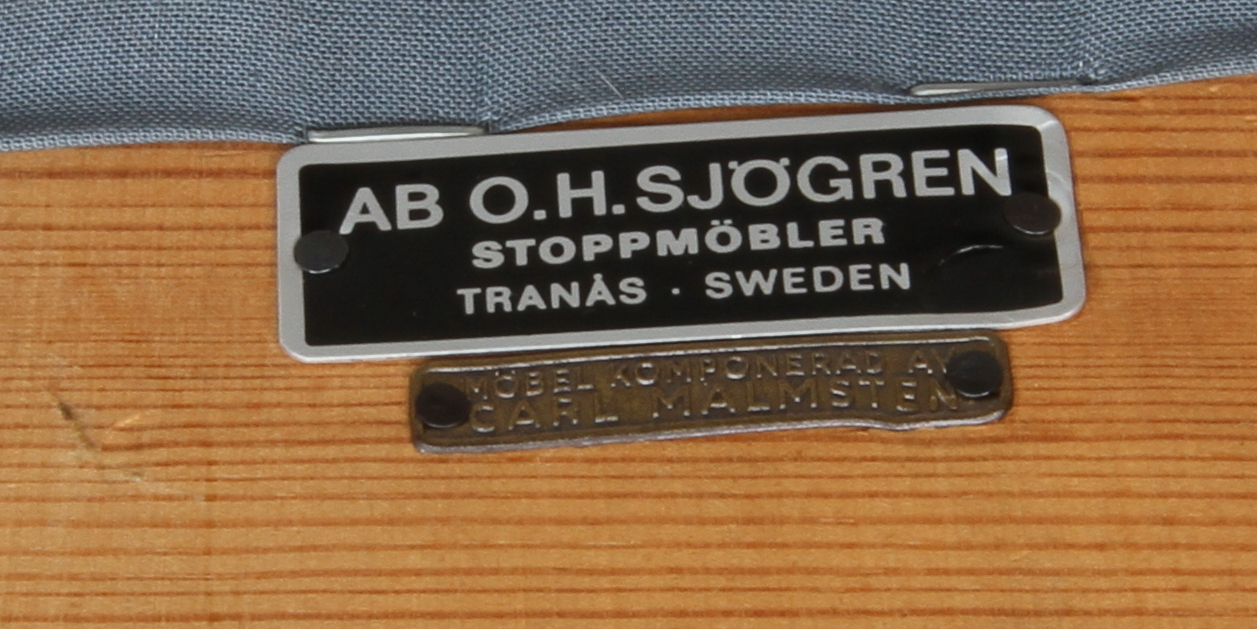 """Bilder för 100187 FåTÖLJ,""""Vår Fru"""", Carl Malmsten Auctionet"""