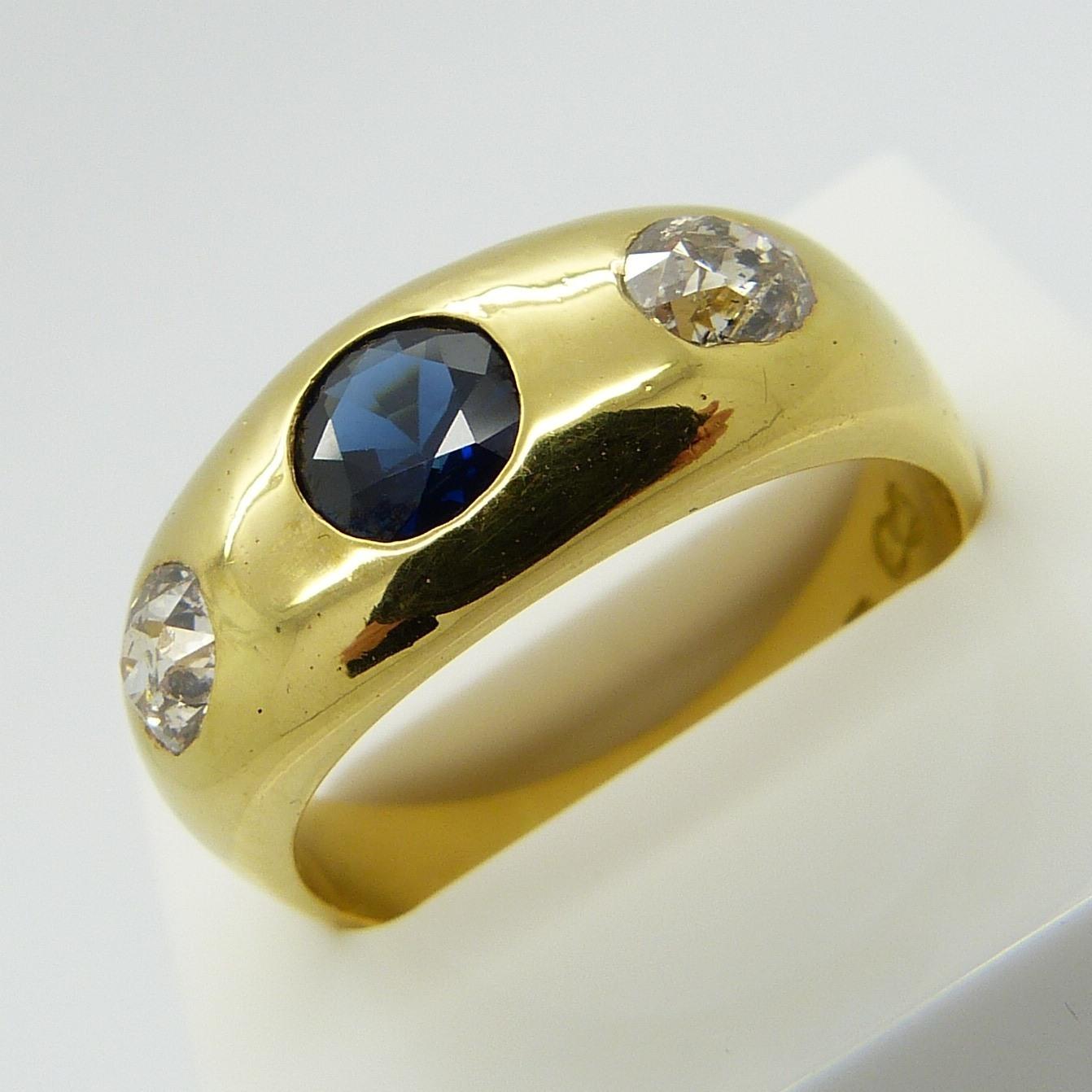 9fcd58d119e28 VICTORIAN SAPPHIRE & DIAMOND RING. Jewellery & Gemstones - Rings ...