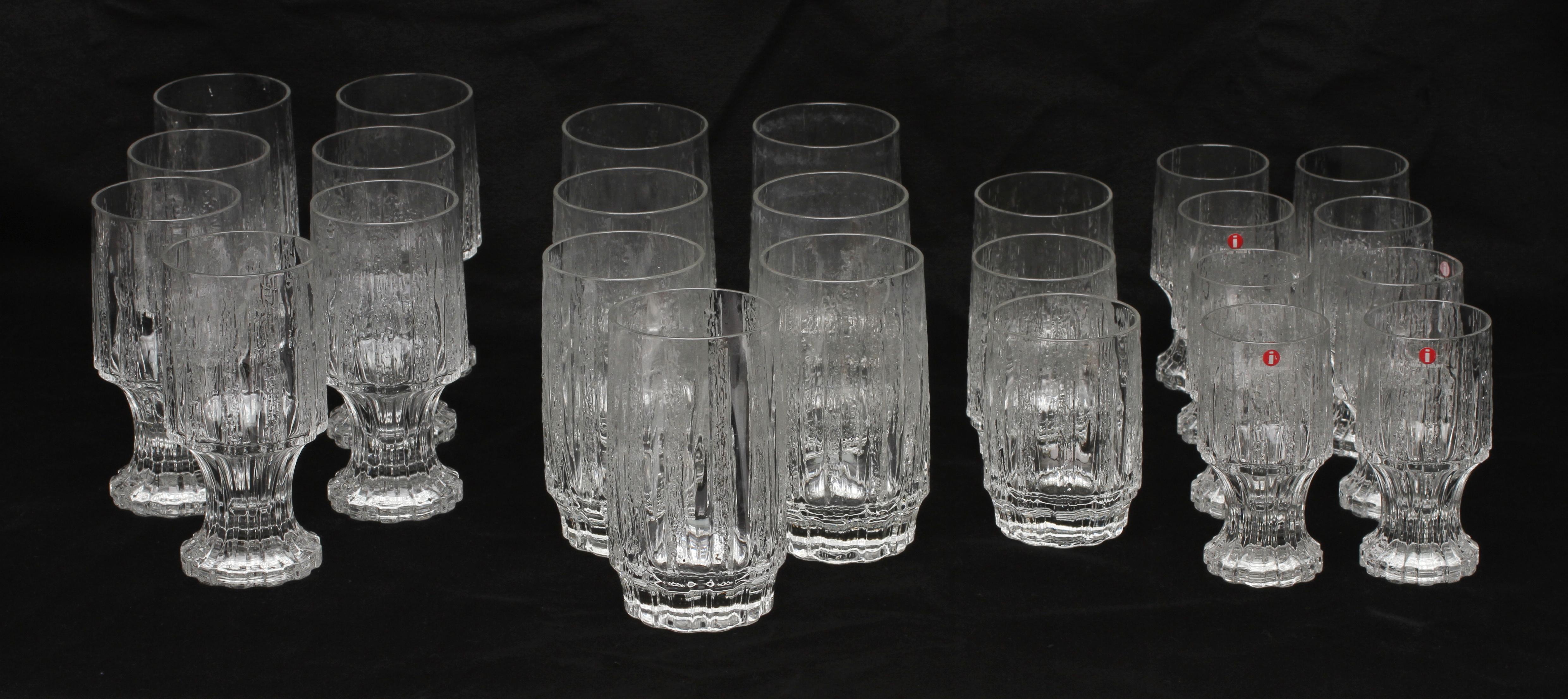 Iittala Gläser parti glas 47 delar iittala finland glass other auctionet