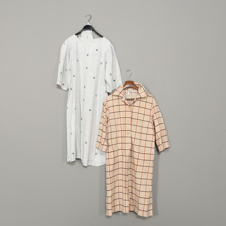 KLÄNNINGAR, 2 st, bomull, Marimekko, 1900 talets andra hälft
