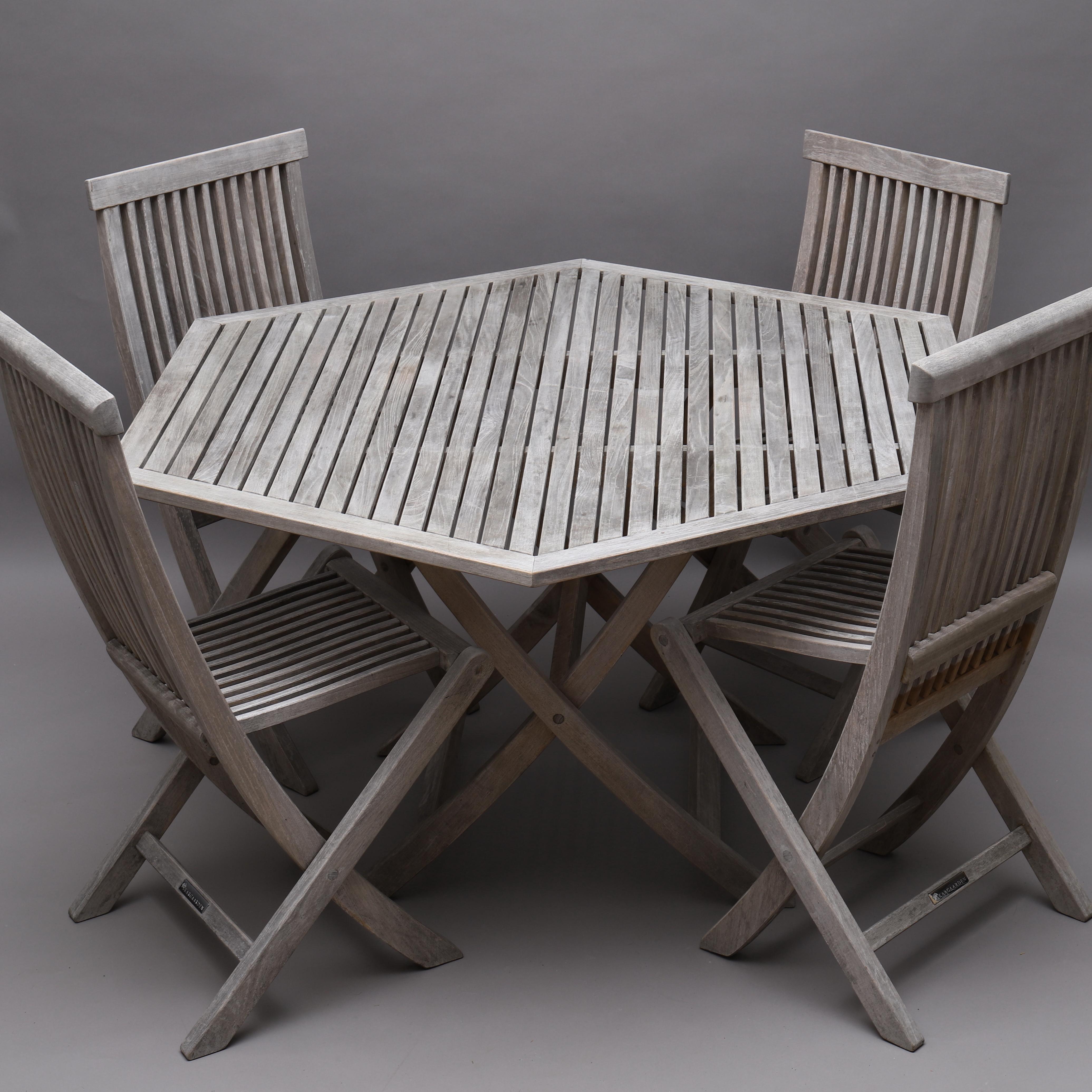 UTEMÖBLER, bord samt 4 stolar, ''Viken'', Skargaarden