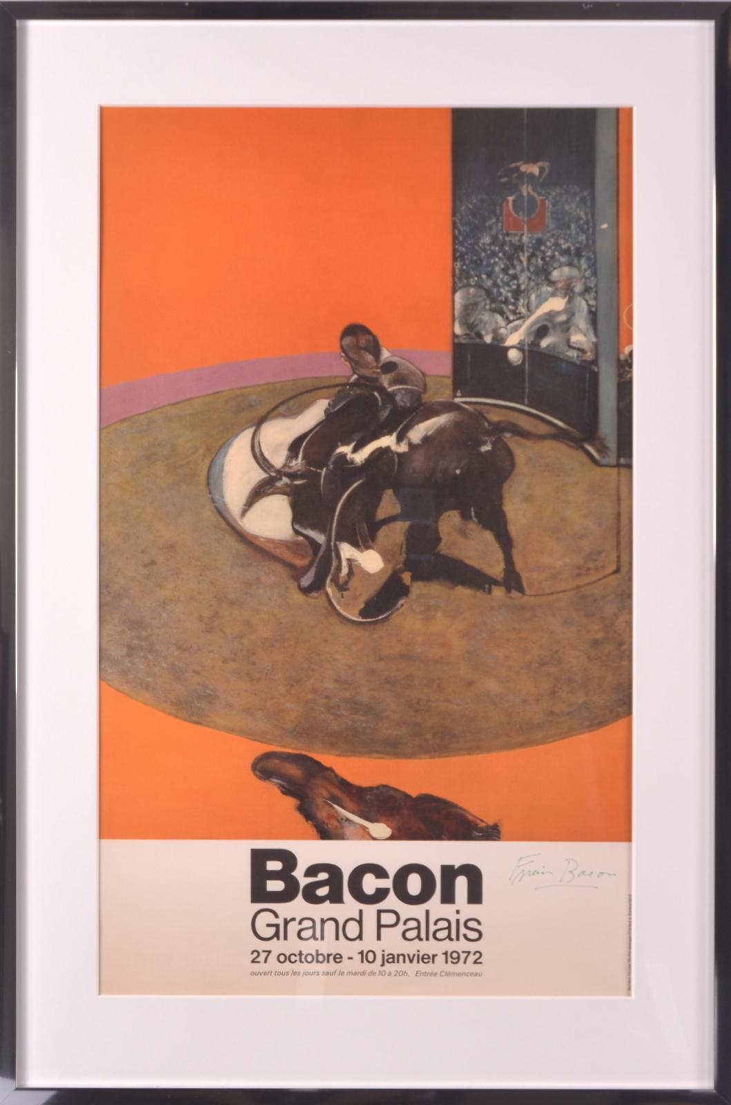 FRANCIS BACON  Utställningsaffisch, offsettryck  Grand