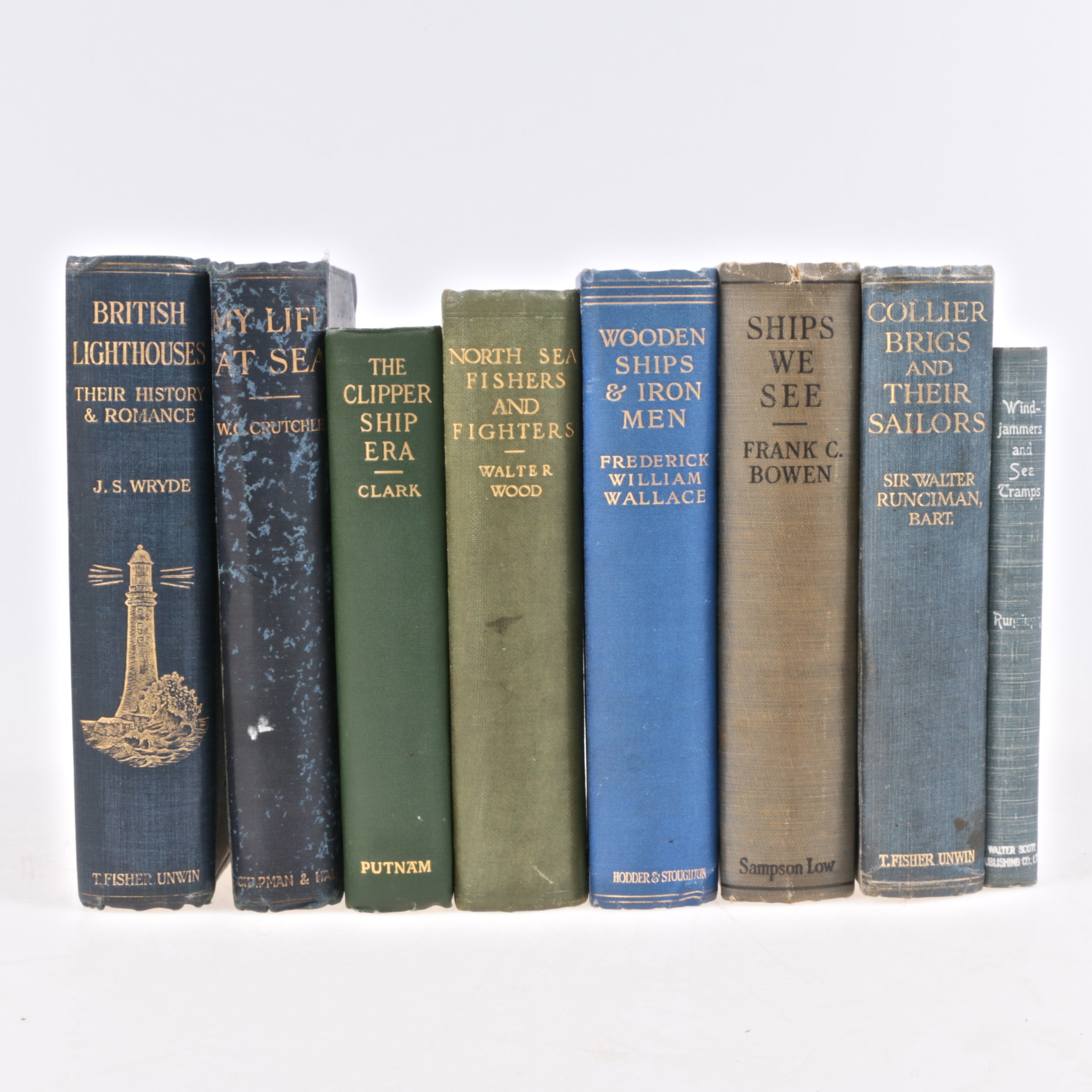 Böcker Nautica 8 St Delvis British Lighthouses Wooden Ships