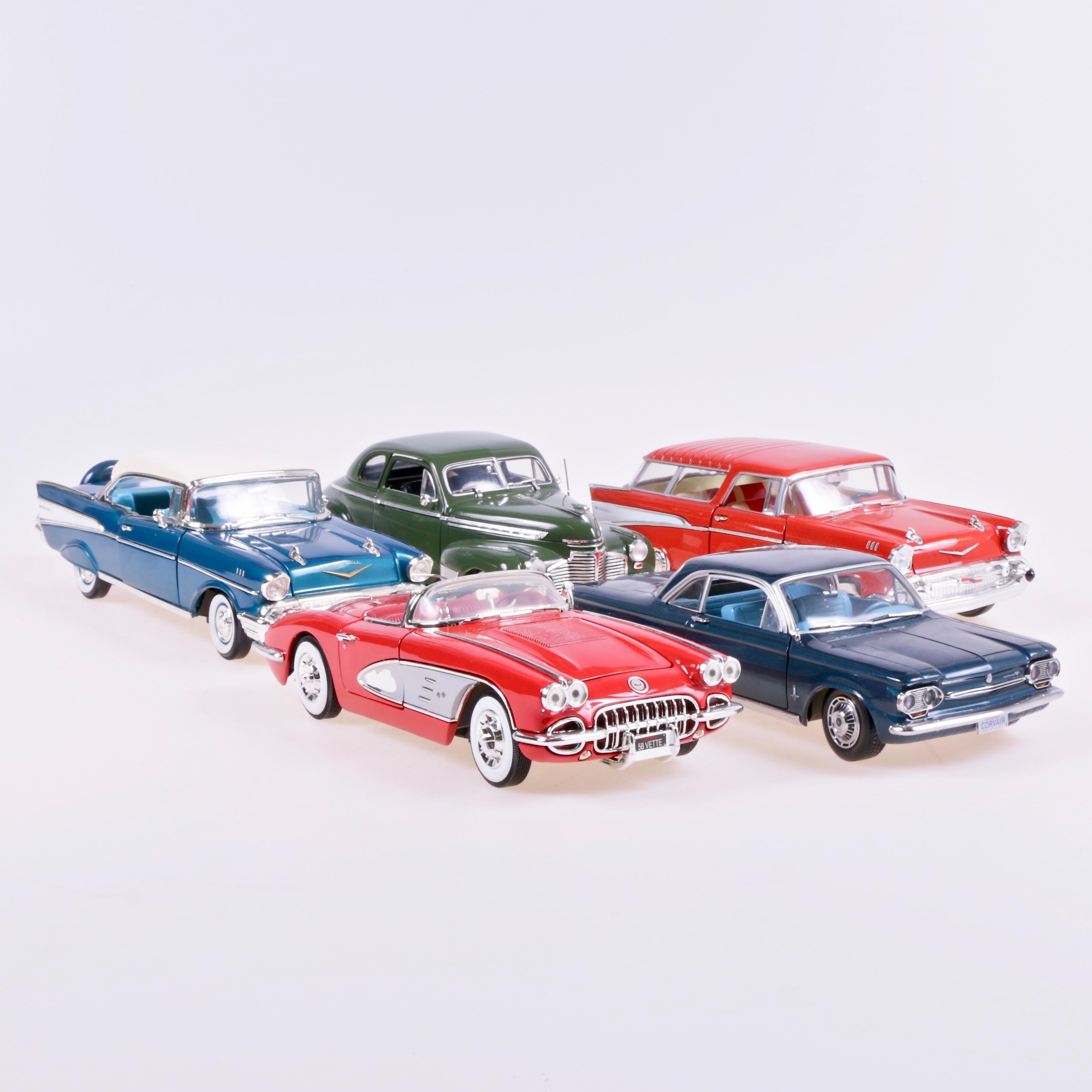 Model Cars 5 Pcs Scale 1 18 Chevrolet Toys Auctionet