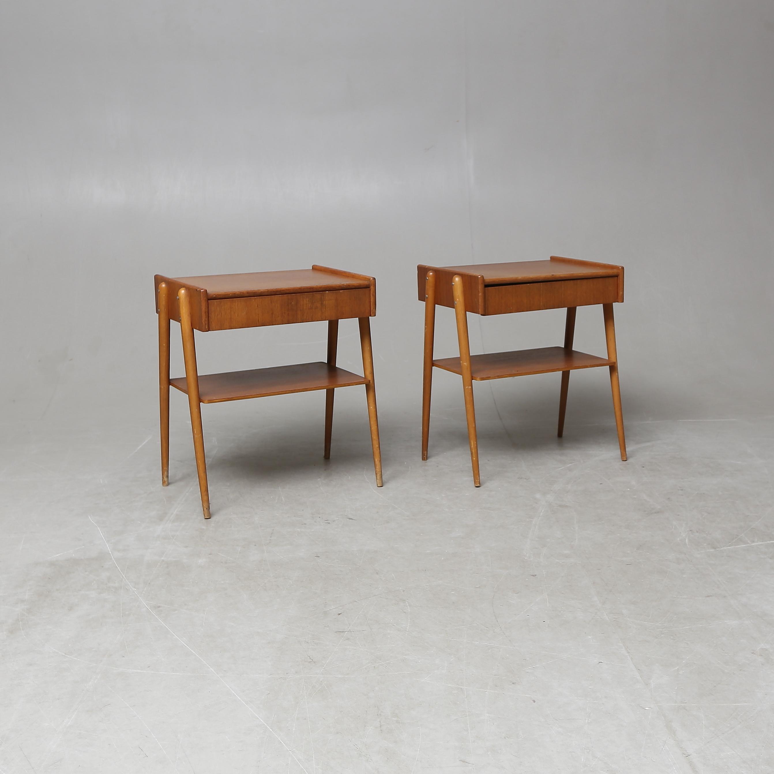 SINGLE TABLE, a pair, Carlström & Co Möbelfabrik, the second