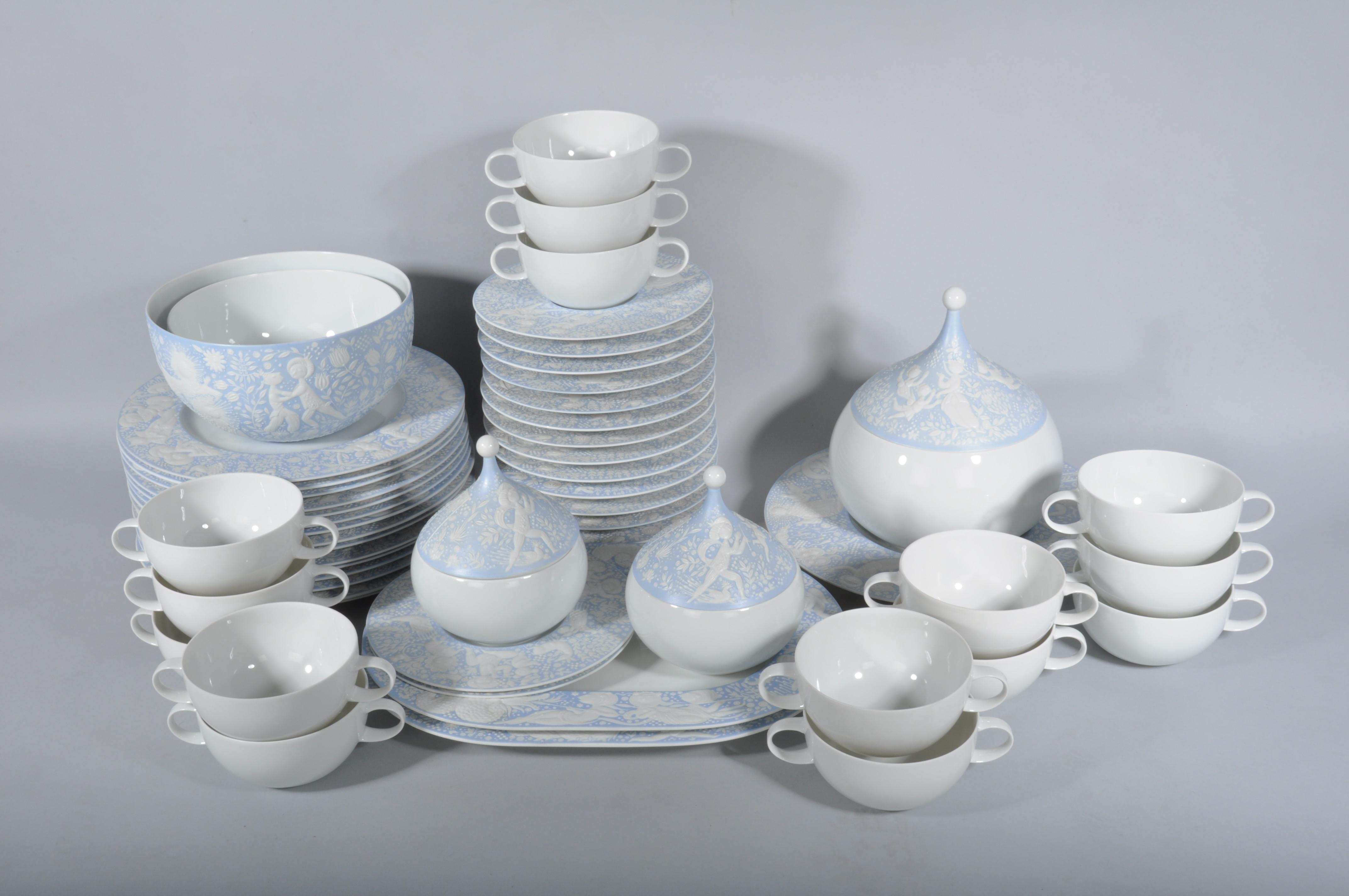 Rosenthal Bjorn Wiinblad Zauberflote Pamina Speiseservice Fur 15 Personen Keramik Porzellan Europaisch Auctionet