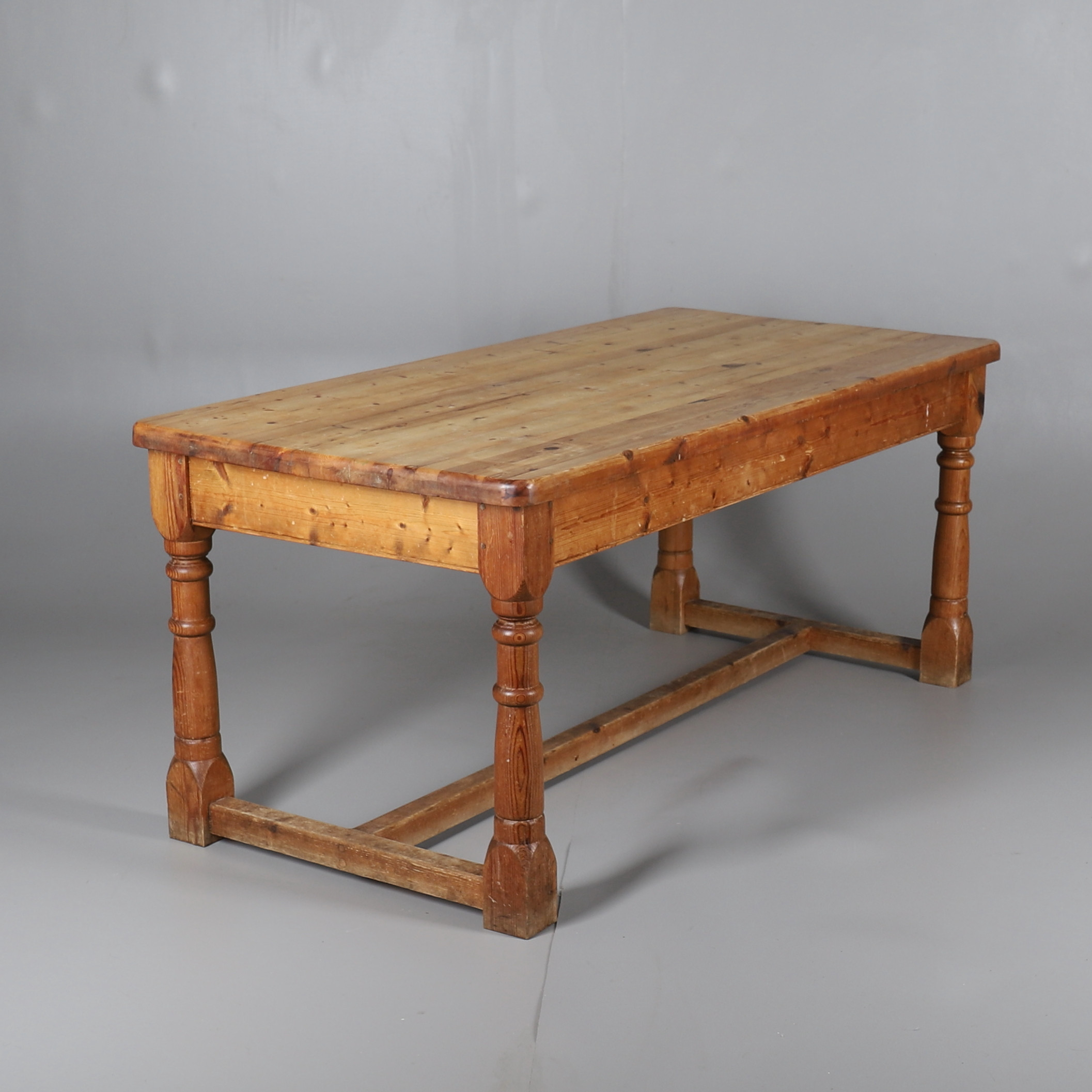 A Waxed Pine Farmhouse Style Kitchen Table Furniture Tables Auctionet