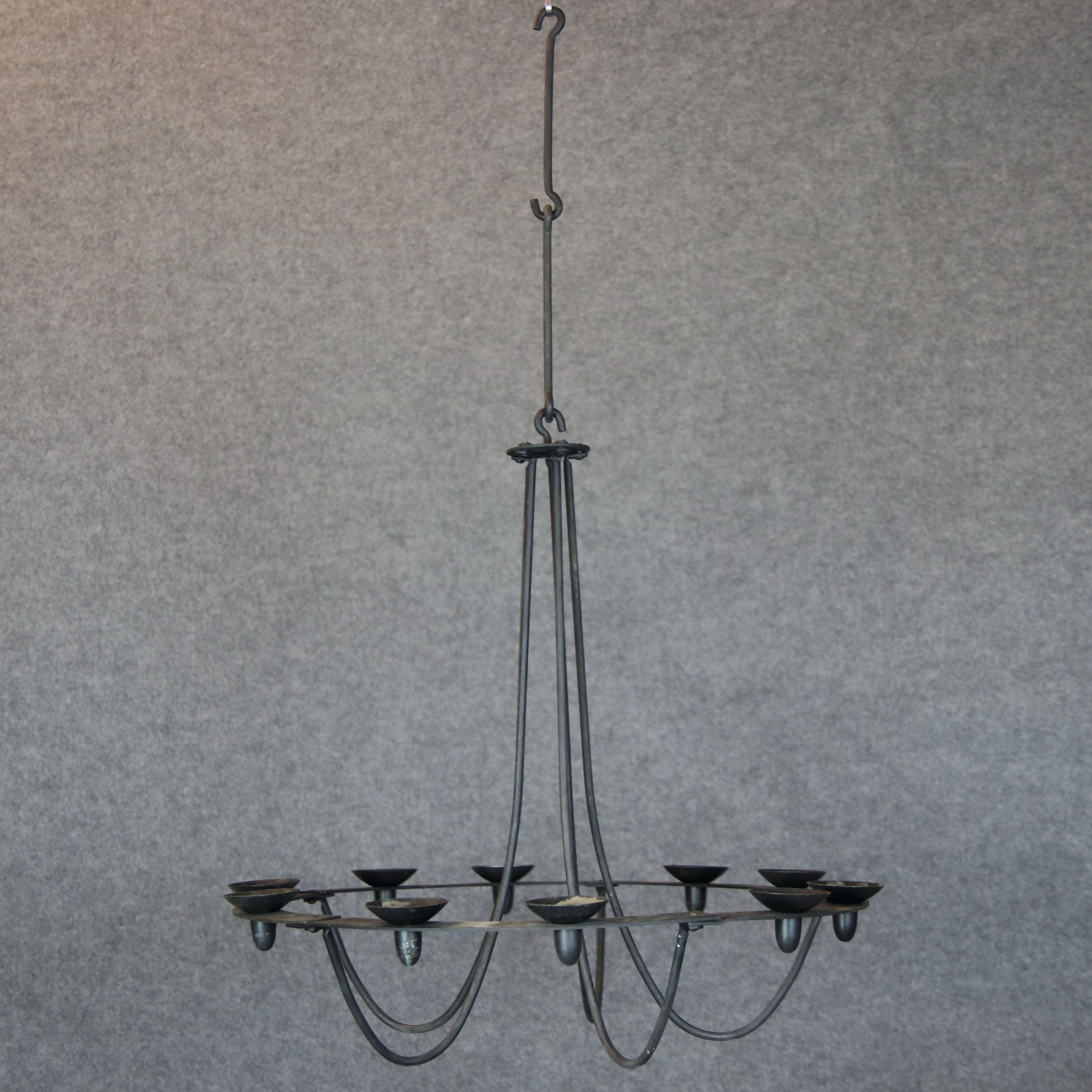Candelabra Wrought Iron 10 Candle Holders Contemporary Lighting Lamps Ceiling Lights Auctionet